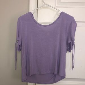 Purple short sleeve tee